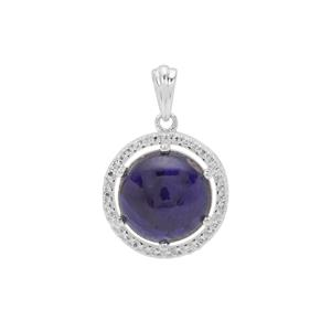 Thai Sapphire Pendant in Sterling Silver 9.35cts