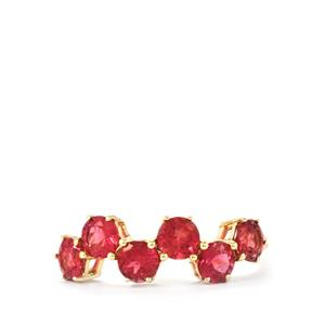 Cruzeiro Rubellite Ring in 9K Gold 1.44cts