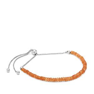 Hollandine Garnet Slider Bracelet in Sterling Silver 9cts