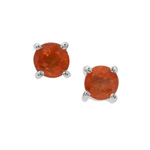 Mandarin Garnet Earrings in Sterling Silver 0.93ct