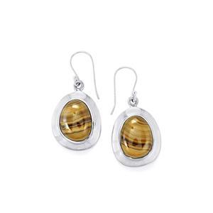 Schelm Blend Sphalerite Earrings in Sterling Silver 22cts
