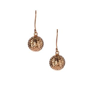 10K Gold Diamond Cut Ball Earrings 1.22g