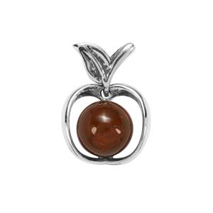 American Fire Opal Pendant in Sterling Silver 2.97cts