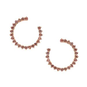 6.73ct Mocha Zircon Gold Tone Sterling Silver Earrings