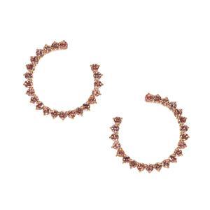 Mocha Zircon Earrings in Gold Tone Sterling Silver 6.73cts