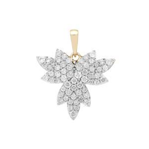 3/4ct Diamond 9K Gold Tomas Rae Pendant