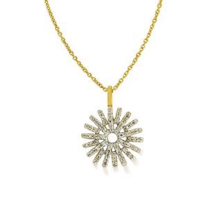 1/4ct Diamond Gold Plated Sterling Silver Pendant Necklace