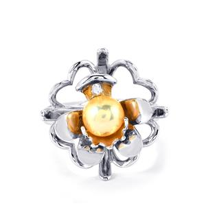 Kaori Cultured Pearl Ring in Sterling Silver