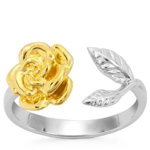 Ring in Two Tone Gold Plated Sterling Silver