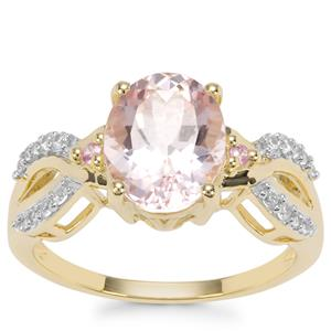 Nigerian Morganite, Pink Sapphire Ring with Pink Sapphire in 9K Gold 2.37cts