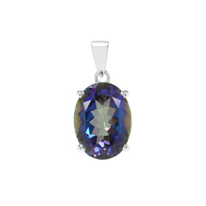 Mystic Blue Topaz Pendant in Sterling Silver 11.55cts