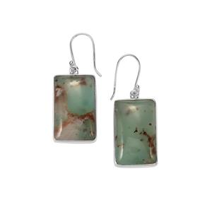 Aquaprase™ Earrings in Sterling Silver 37.92cts