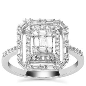 Diamond Ring in 18K White Gold 0.58ct