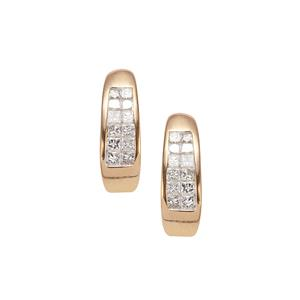 Diamond Earrings in 18k Gold 0.34ct