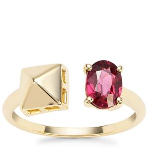 Malawi Garnet Ring in 9K Gold 1.06cts