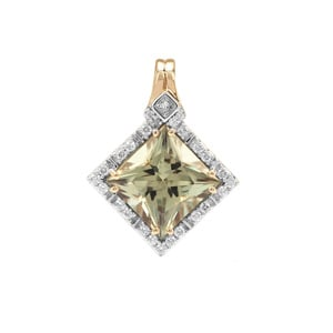 Csarite® Pendant with Diamond in 18K Gold 3.91cts
