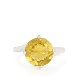7.30ct Golden Fluorite Sterling Silver Ring