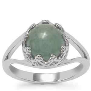 Aquamarine Ring in Sterling Silver 2.99cts