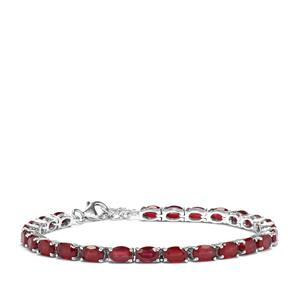 Malagasy Ruby Bracelet in Sterling Silver 17.83cts (F)