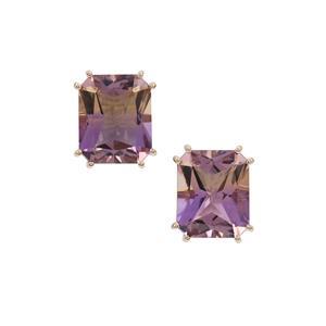 7.70ct Anahi Ametrine 9K Gold Earrings