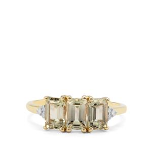 Csarite® Ring with Diamond in 9K Gold 2.07cts