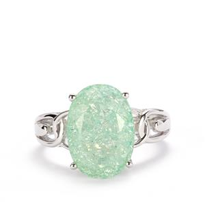 Green Crackled Quartz Ring in Sterling Silver 5.73cts