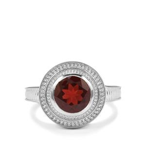 Octavian Garnet Romulus Ring in Sterling Silver 2.42cts