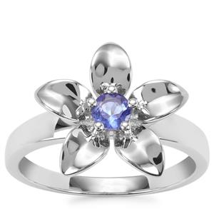 AA Tanzanite Ring in Sterling Silver 0.28cts