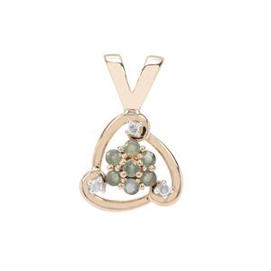 Alexandrite Pendant with Diamond in 9K Gold 0.43cts