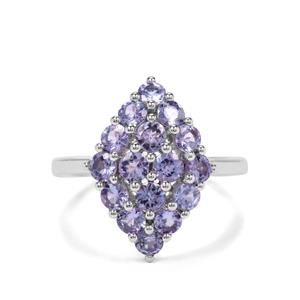 1.85ct AA Tanzanite Sterling Silver Nora Saul Ring