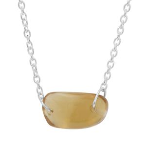 Organic Shape Diamantina Citrine Necklace in Sterling Silver 8.15cts