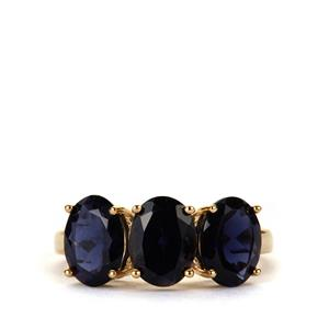 Bengal Iolite Ring in 10K Gold 3.04cts