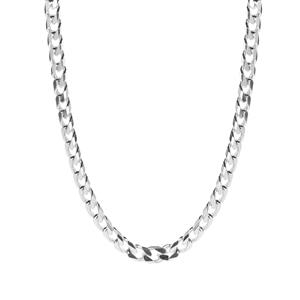 "20"" Sterling Silver Classico Diamond Cut Curb Chain 25g"