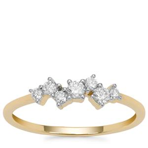 Diamond Ring in 9K Gold 0.29ct