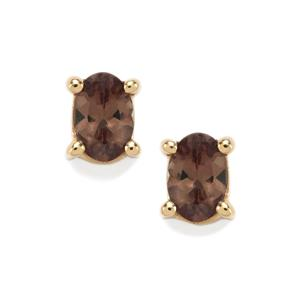 Tsivory Colour Change Garnet Earrings in 10K Gold 1cts