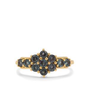 Miova Loko Garnet Ring in 9K Gold 1.20cts