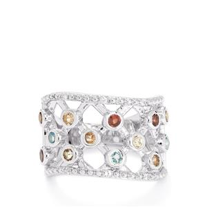 1.13ct Kaleidoscope Gemstones Sterling Silver Ring