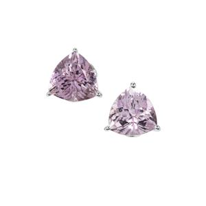 Rose De France Amethyst Earrings in Sterling Silver 3.66cts