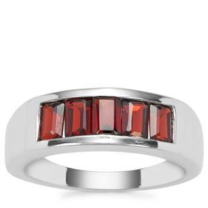 Rajasthan Garnet Ring in Sterling Silver 2cts