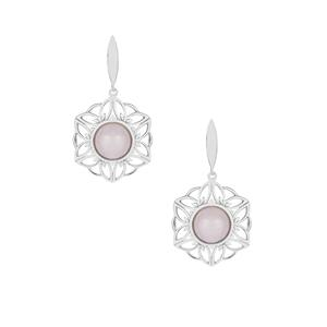 Galileia Morganite Earrings  in Sterling Silver 5.60cts