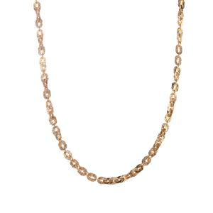 9K Gold Atro Paillettes Link Necklace 4.90g