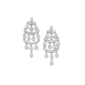 Diamond Earrings in Sterling Silver 1.23cts
