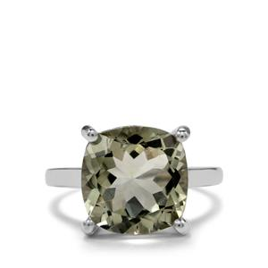 7ct Prasiolite Sterling Silver Designer Ring