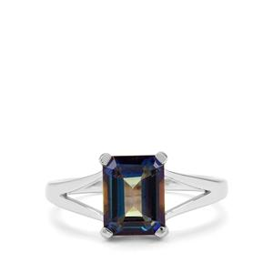 2.78ct Mystic Blue Topaz Sterling Silver Ring