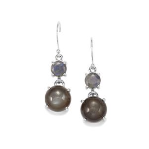 Nova Moonstone Earrings with Labradorite in Sterling Silver 18cts