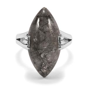 São Paulo Tourmalinated Quartz Ring in Sterling Silver 15cts