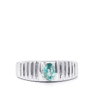 Ratanakiri Blue Zircon Ring in Sterling Silver 0.94cts