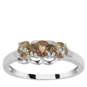Green Andesine Ring in Sterling Silver 0.72cts