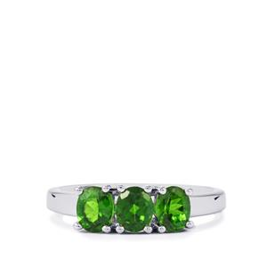 1.12ct Chrome Diopside Sterling Silver Ring