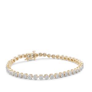 Diamond Bracelet in 9K Gold 3cts